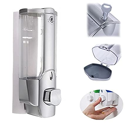 TOOGOO 350ml Desinfectante de jabon de montaje en pared Dispensador del champu de ducha del cuarto