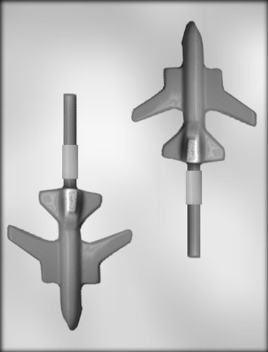 (CK Products 4-Inch Jet Plane Sucker Chocolate Mold)