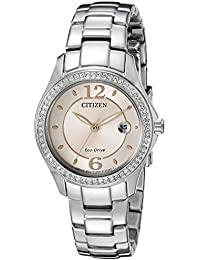 Women's Eco-Drive Silhouette Crystal Watch with Date,...