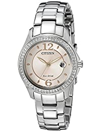 Citizen Women's Silhouette Crystal FE1140-86X Wrist Watches, Pink Dial