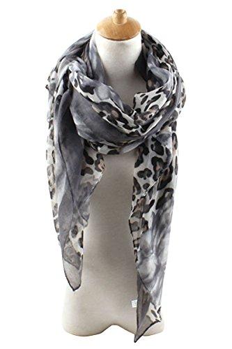 Leopard Oblong Wrap Scarf