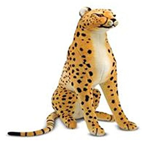 Mellisa n Doug 2128 11``D x 33``W x 21``H Large Cheetah Plush Stuffed Animal ^G#fbhre-h4 8rdsf-tg1347493