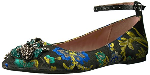 Circus by Sam Edelman Women's Rocco Mary Jane Flat, Black/Multi/Metallic Floral Brocade, 8.5 Medium US