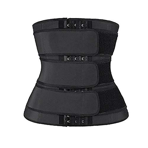 Kaxofang Hot Sweat Waist Slimming Fine-Tuning Zipper Belt Body Shaping Machine Weight Loss Exercise Belt Large Size…