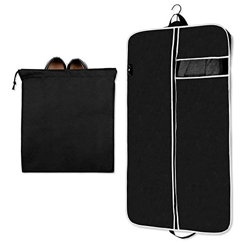 TruTraveler Garment Suit Bag for Storage, Travel and Carry On, Suitable for Men Suits, Sports Coats and Dresses (43 inch x 24 Inch) (Suits And Sportcoats)