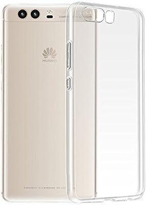 ELECTRÓNICA REY Funda Carcasa Gel Transparente para Huawei P10, Ultra Fina 0,33mm, Silicona TPU de Alta Resistencia y Flexibilidad
