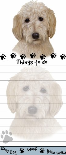 quotGoldendoodle Magnetic List Padsquot Uniquely Shaped Sticky Notepad Measures 85 by 35 Inches
