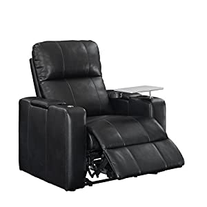 Pulaski Power Home Theatre Recliner, USB Port, Tray, Blanche