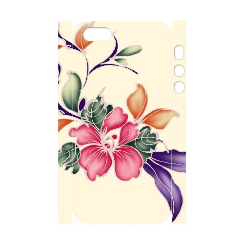 SYYCH Phone case Of Bright Color Flower 2 Cover Case For iPhone 5,5S