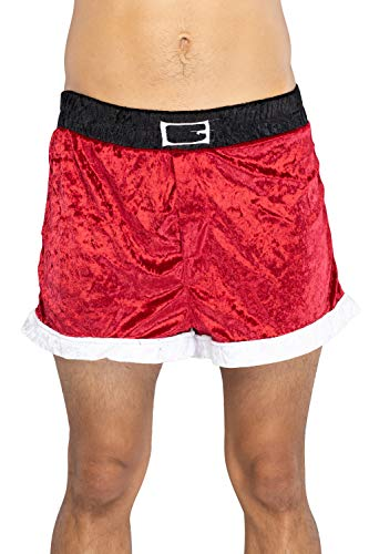 INTIMO Men's Santa Holiday Boxer Shorts, red, L (Sexy Santa Underwear For Men)