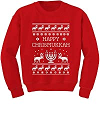 Tstars Happy Chrismukkah Funny Ugly Christmas/Hanukkah Youth Kids Sweatshirt