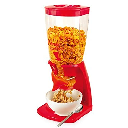 Dispensador de cereales Corn Flakes, Rojo