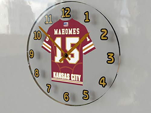USA American Football Team Wall Clocks - All N F L Colours Available - Support Your Team !!! (Kansas City Chiefs)
