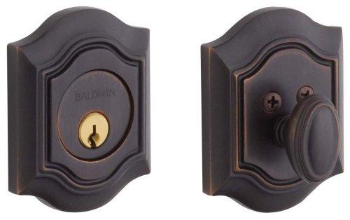 Baldwin Estate 8237.112 Low Profile BethPage Single Cylinder Deadbolt in Venetian ()