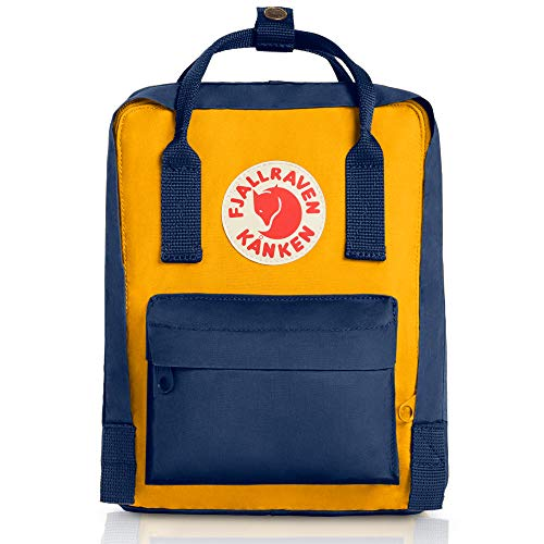 Fjallraven - Kanken Mini Classic Backpack for Everyday, Navy/Warm Yellow
