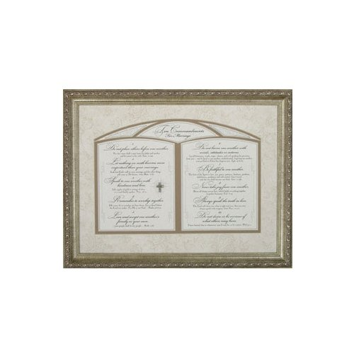Carpentree 22440 Ten Commandments for Marriage Framed - Marriage Framed