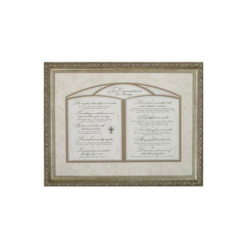 Carpentree 22440 Ten Commandments for Marriage Framed Art (Commandments Marriage Ten)