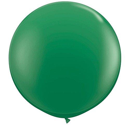 NYKKOLA 36 Inch Giant Latex Balloon (Premium Helium Quality),6 Pack Big Metallic Green Balloons