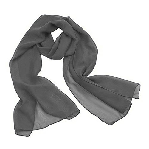 Kewl Fashion Women's Soft Chiffon Bridal Evening Shawl and Wraps Grey