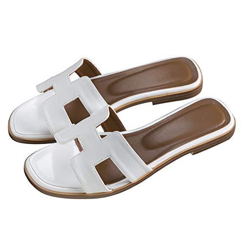 eecebc97553 June in Love Women s Flat Casual Fashion Summer Sandals Slippers outsdoor  Open Toe H Shape Slippers