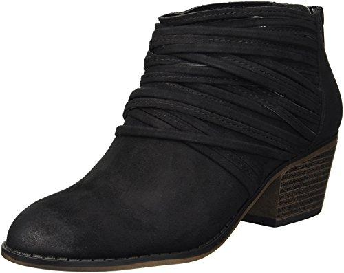 Fergalicious Women's Barley Ankle Boot, Black, 5 M US