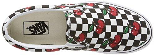 VansU CLASSIC SLIP-ON CHERRY CHECKERS - Zapatillas Unisex adulto Cherry Checkers/Black/True White