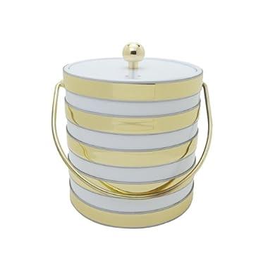 Mr. Ice Bucket Barrel 3-Quart Ice Bucket, White