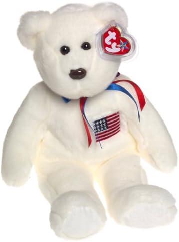 Ty Beanie Buddy LIBEARTY with American Flag the Bear