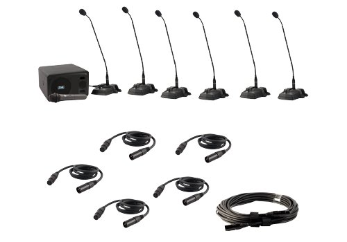 Anchor Audio CouncilMAN Conference System - 6 User Package w/ Wireless Mic, CM-6W (Anchor Amplifier)