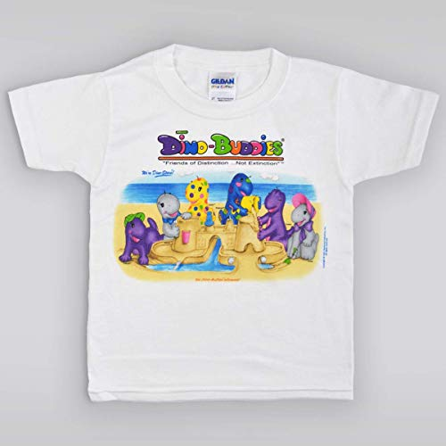 Dino-Buddies Cute Dino T-Shirt Sand Castle Fun at The Seasho
