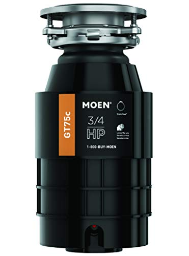 Moen GT75C GT Series 3/4 Horsepower Garbage Disposal, with with Fast Track Technology - Waste Universal Disposer