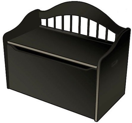 Black Limited Edition Toy Box, Toy Chest Keeps Room Tidy with Clear of Clutter, Helps Teach the Need of Getting Organized, Convenient Storage, Bench, Bundle with Expert Guide for Better Life