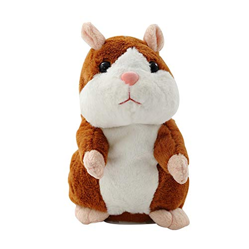 DMK Talking Hamster Mouse Pet Christmas Toy Speak Talking Sound Record Hamster Educational Plush Toy for Children (1)