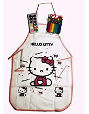 Coloring Apron - Girls and Boys - with 6 Clay Colors, 5 Selects and Pallet 12 Colors - Great Set for Creative Kids - Various Graphics