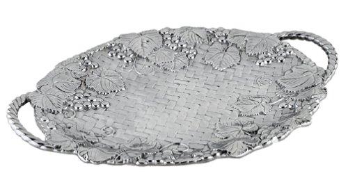 Lenox Grape Weave Metal Large Handled Tray