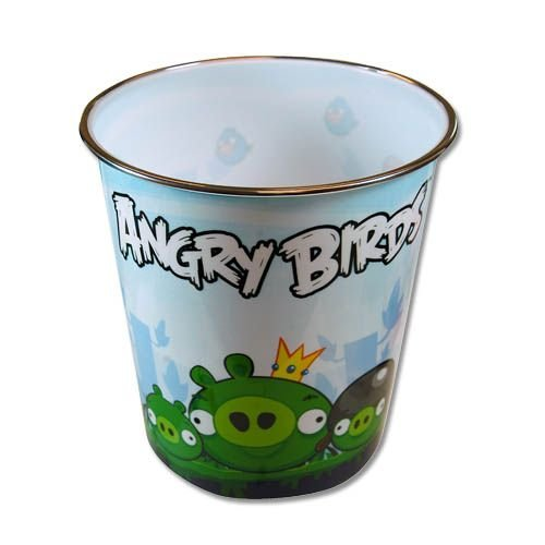 UPC 121245801525, Plastic Trash Can Wastebasket (Angry Birds)