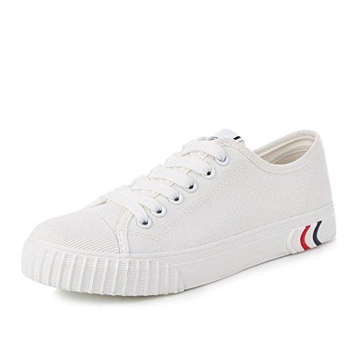 Moda Koyi Pequeños Deporte Blancos de Encaje Casuales White1 Zapatillas Zapatos de Plana Zapatos Femeninos de Bordado Alpargatas Deportivos FppBxqr8wH