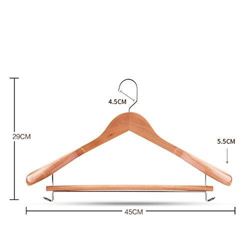 Solid Wood Coat Hanger Retro Wide Shoulder Suit Hangers Wooden Overcoat Wood Clothes Prop Wardrobe Clothes Rack