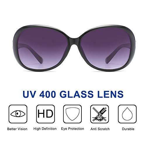 ENSARJOE Sunglasses for Women Vintage Big Frame Ladies Shades UV400 Sun Glasses