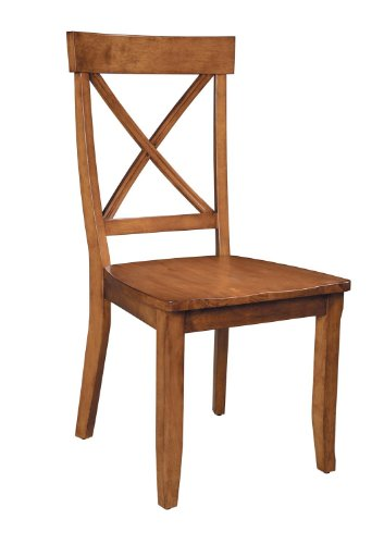 Home Styles 5179-802 Dining Chairs, Cottage Oak, Set of 2 - Solid Oak Dining Table