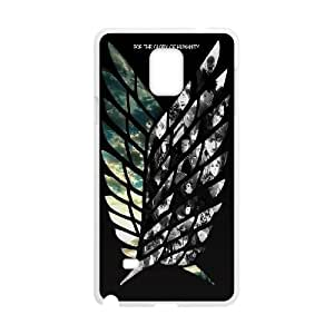 Qxhu Attack on Titan Durable Rubber Silicon Case Cover for Samsung Galaxy Note4
