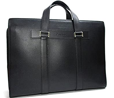 35d7d845dc86 Amazon.co.jp: カルティエ ビジネスバッグ パシャ ドゥ カルティエ レザー ブラック×シルバー金具 [中古]: シューズ&バッグ