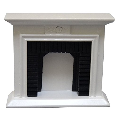 Miniature Fireplace (RoseSummer Fine 1/12 Scale Dollhouse Miniature Furniture Well Made Fireplace)