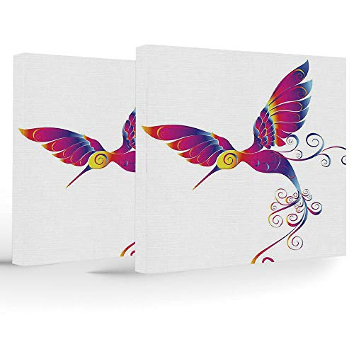 Used, Canvas Print,Hummingbirds Decor,Home Decoration Stretched for sale  Delivered anywhere in USA
