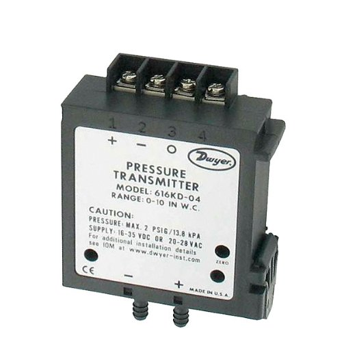 Dwyer 616KD-07-TC Differential Pressure Transmitter, 4-20 mA, 25