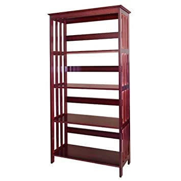 Wood 4 Tier Bookshelves (CHERRY)
