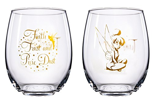 Disney Collectible Wine Glass Set (Tinkerbell) (Disney Collectible Tinkerbell)