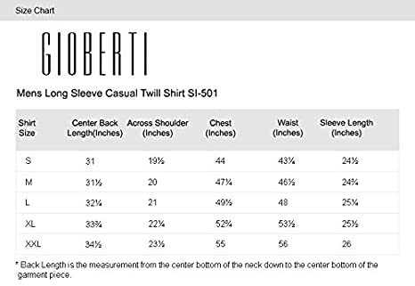 964874b6f Gioberti Mens Long Sleeve Casual Twill Shirt at Amazon Men s ...