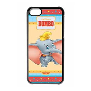 Special Design Case iPhone 5C Black Cell Phone Case Nnnal Dumbo Durable Rubber Cover
