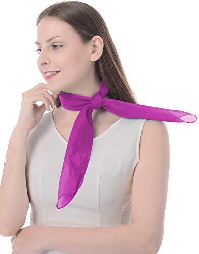Chiffon Scarf Sheer Scarf Small Scarf for Women Ladies Girls purple ()
